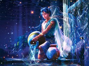 Acquario, disegno art. Oroscopo dell'Acquario per il 2017 dell'astrologa Astrid.